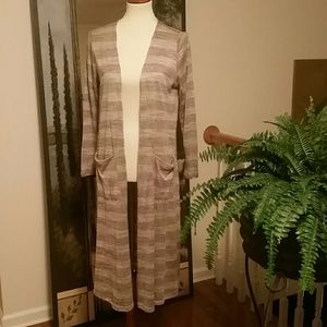 Lularoe long cardigan with pockets